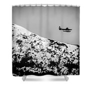 Float Plane Over The Mountain Shower Curtain