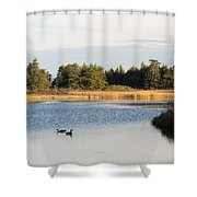 Floating Akong Shower Curtain