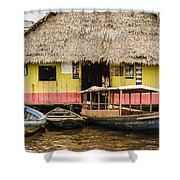 Floating Bar In Shanty Town Shower Curtain