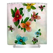 Floating Buds Shower Curtain