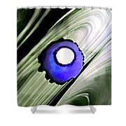 Floating Dot Abstract Alcohol Inks Shower Curtain