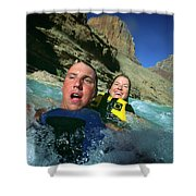 Floating Down The Little Colorado River Shower Curtain