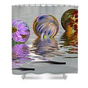 Floating Flowers Shower Curtain