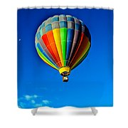 Floating Free In A Hot Air  Balloon Shower Curtain