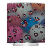Floating Gum Balls Shower Curtain