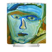 Floating Head Shower Curtain