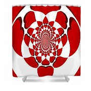 Floating Hearts Shower Curtain