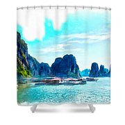 Floating In Ha Long Shower Curtain