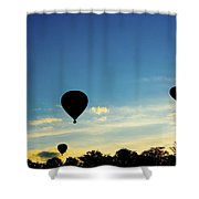 Floating In The Air At Sundown Shower Curtain