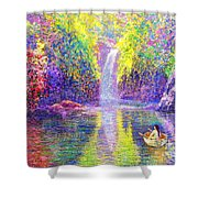 Floating Shower Curtain by Jane Small