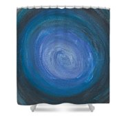 Floating Blues Shower Curtain