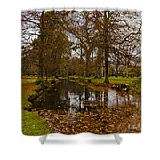 Floating Leaves Shower Curtain