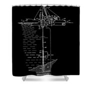 Floating Oil Rig Patent Shower Curtain