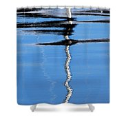 Floating On Blue 2 Shower Curtain