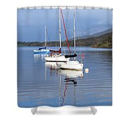 Floating On Blue 13 Shower Curtain
