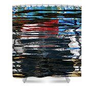 Floating On Blue 19 Shower Curtain