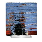 Floating On Blue 16 Shower Curtain
