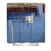 Floating On Blue 21 Shower Curtain