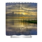 Floating Over The Lake Shower Curtain