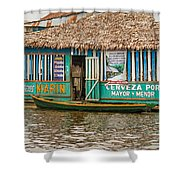 Floating Pub In Shanty Town Shower Curtain