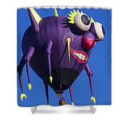 Floating Purple People Eater Shower Curtain