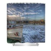 Floating Restaurant Shower Curtain