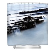 Floating Stone Shower Curtain