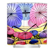 Floating Umbrella Shower Curtain