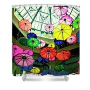 Floating Umbrellas In Las Vegas  Shower Curtain