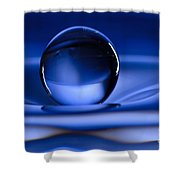 Floating Water Drop Shower Curtain