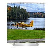 Floatplane In Fall Shower Curtain