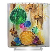 Floats And Nets Shower Curtain