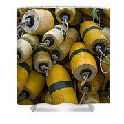 Floats Used In Crab Fishing Shower Curtain