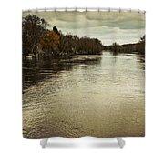 Flood Waters Milwaukee River 2013 Shower Curtain