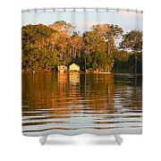 Flooded Amazon With Houses Shower Curtain