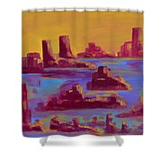 Flooded Canyon Shower Curtain