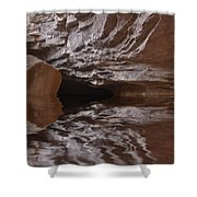 flooded Ohio cave Shower Curtain