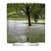 Flooded Park Shower Curtain
