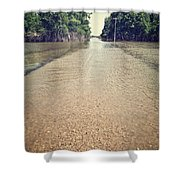 Flooded Road Shower Curtain