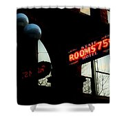 Flophouse Shower Curtain by Benjamin Yeager