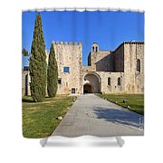 Flor Da Rosa Monastery Shower Curtain
