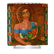 Flora - Goddess Of The Seeds Shower Curtain