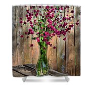 Flora Vase In Hdr Shower Curtain