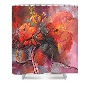 Floral 01 Shower Curtain by Miki De Goodaboom