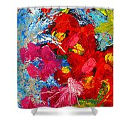 Floral Abstract Part 3 Shower Curtain