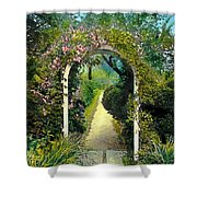 Floral Arch And Path Shower Curtain