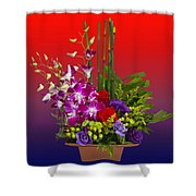 Floral Arrangement Shower Curtain by Chuck Staley