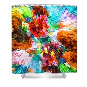 Floral Art Xiii Shower Curtain