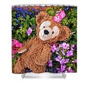 Floral Bear Shower Curtain