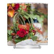 Floral Centerpiece Shower Curtain